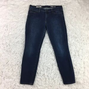 Gap 1969 Authentic True Skinny Jeans Dark Wash